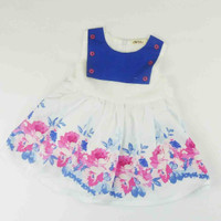DRESS BABY PUTIH BIRU BUNGA ( 00122.27 )