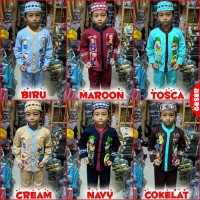Koko Anak Muslim KARTUN Baju Setelan Pakaian Gamis Anak Lucu MARUNO -