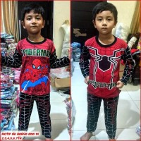 Baju Tidur Piyama Anak Laki Bagus Keren MARUNO - 5th, Spiderman Merah