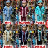 Koko Anak BATIK Muslim Baju Setelan Pakaian Gamis Anak Berkelas MARUNO