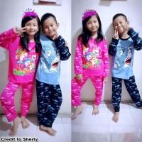 Baju Tidur Anak Piyama SHARK Laki Perempuan Bagus Setelan Tidur MARUNO