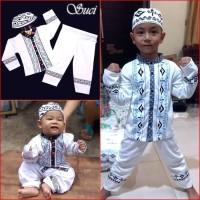 Baju Koko Anak PUTIH Pakaian Muslim Anak Suci MARUNO - VIII tahun