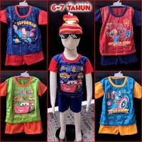 Dijual Baju Setelan Anak Laki 6-7 tahun Diskon