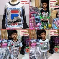Piyama Anak / Baju Tidur Anak / Setelan Pajamas Lucu MARUNO - Pendek A
