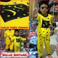 Dijual Baju tidur piyama anak BULAN BINTANG MARUNO - 5th Berkualitas
