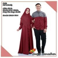 Baju Busana Muslim Gamis Couple Pria Wanita Rahmadan