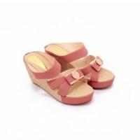 Hot Sale!! Sepatu Wanita Wedges Sneakers Gold Chaca Berkualitas Import