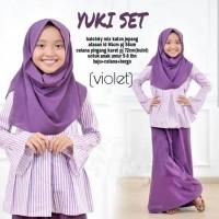 Yuki set / baju setelan muslim anak perempuan usia 6-8 tahun