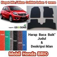 Karpet Mie/Bihun Mobil Honda BRIO - bahan 1 warna [Baris 1 dan 2]