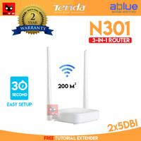 Tenda N301 3 in 1 Wireless ROUTER+Access Point+EXTENDER WIFI 301 AP