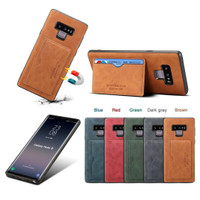 Samsung galaxy note 9 leather soft case stand cover slot card wallet