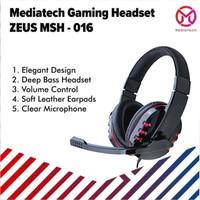 Mediatech Gaming Headset / Headphone Zeus MSH 016 - Merah