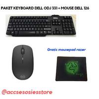 PAKET KEYBOARD DELL ODJ331 USB+MOUSE DELL WM126 WIRELLESS