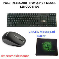 PAKET KEYBOARD HP AYQ819 USB+MOUSE LENOVO N100 WIRELLESS