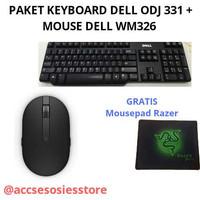 PAKET KEYBOARD DELL ODJ331 USB+MOUSE DELL WM326 WIRELLESS