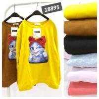 blouse cat pita merah import