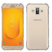 ANTI Crack Clear Soft Case Samsung Galaxy J7 Duo 2018 Casing Bening - Clear