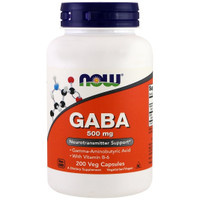Now Foods, GABA, 500 mg, 200 Capsules