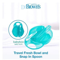 Dr Brown's Travel Fresh Bowl and Spoon / Dr Brown Tempat Makan Bayi