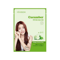 Celebon Collagen Essence Mask Cucumber Masker Wajah Original Korea