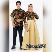 Batik sarimbit 278 Baju couple pria wanita muslim syarii keluarga