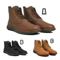 Sepatu Boots Kulit Pria ORIGINAL