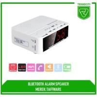 RD TAFFWARE Alarm Clock with Bluetooth Speaker - Jam Weker Beker Meja