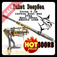 paket pancing laut DeepSea joran carbon fiber 210 Reel debao DB6000