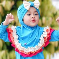 Jilbab anak turban Pita Pelangi