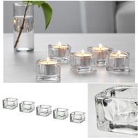 IKEA - Glasig Tempat Lilin kecil satuan kaca beling
