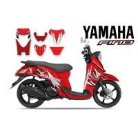 DECAL STICKER MOTOR YAMAHA FINO RED SHARK
