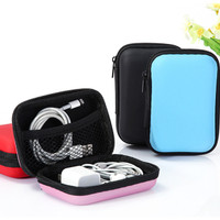 Tempat Earphone Headset Organizer Dompet Koin Charger Case Box