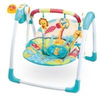 Mastela Swing Deluxe Bouncer Portable Ayunan Bayi - Blue Giraffe