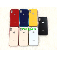 C104.5 Iphone X / XS Premium Color Tempered Glass Silicone Case