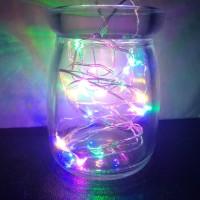lampu peri tutup botol 1m 10 led pelangi
