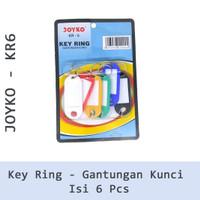 Joyko Key Chain KR 6 KR-6 KR6 Gantungan Kunci 6 pcs
