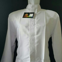 NEW! Fashion Baju Koko wadimor lengan panjang putih size M sampai XL