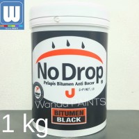 CAT PELAPIS BITUMEN NO DROP ANTI BOCOR 1KG/BITUMEN BLACK WATERPROOFING