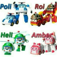 Mainan Figure Robocar poli 1 set 4 pcs