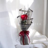 Red Wine (Buket Bunga Segar; Mawar & Caspea)