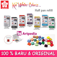 Sakura Koi Watercolor Half Pan Refill /WaterColor refill/ isi cat air
