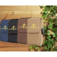 tas pinggang dompet sarung hp 5 5,5 6 inch hitam coklat krem biru