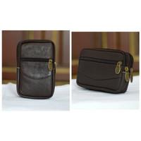 tas hp pinggang kulit sarung 5 5,5 inch rebah tegak import