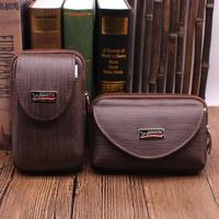 Sarung tas hp pinggang kulit 5,5 6 inch vertical horizontal import