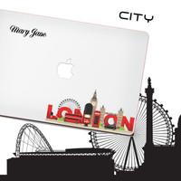 CASE MACBOOK Case CUSTOM LONDON CITY NEW AIR PRO RETINA 11 12 13 15