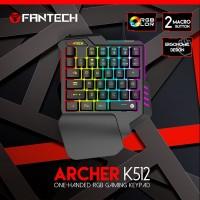 Keyboard Gaming FANTECH ARCHER K512 Single Hand RGB Gaming Keypad