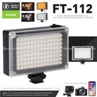 ULANZI 112 LED Video Light FT112 LED Lampu Studio Foto DSLR Smartphone