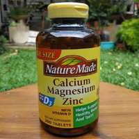 Nature Made Calcium Magnesium Zinc with Vitamin D3 300 tab untk tulang