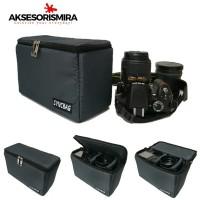 Syncbag Case Insert & Compartment Kantong Kamera Grey Metalic 2.0