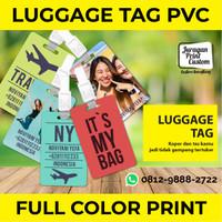 Luggage Tag Name Tag Tas Label Koper Nama ID Card Tas Custom Print PVC